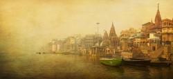 Fotografía panorámica del Río Ganges en Varanasi (antiguo Benarés), India nº11