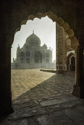 Fotografía vertical Taj Mahal en Agra, India nº05