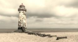 Cuadro del faro Playa de Talacre, Gales nº02