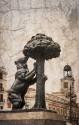 Cuadro de la estatua del Oso y el Madroño Madrid nº01