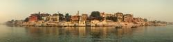 Fotografía panorámica del Río Ganges en Varanasi (antiguo Benarés), India nº12