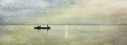 Fotografía panorámica amanecer Río Ganges en Varanasi (antiguo Benarés), India nº03