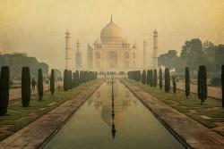 Fotografía horizontal Taj Mahal en Agra, India nº02
