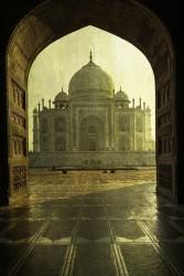 Fotografía vertical Taj Mahal en Agra, India nº03