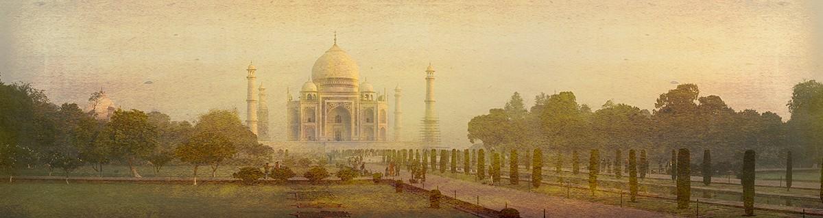 Cuadro panorámico Taj Mahal en Agra, India nº01