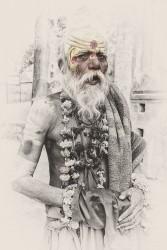 Fotografía vertical de un Sadhu, India nº01