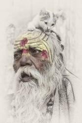 Fotografía vertical de un Sadhu, India nº03