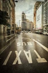 Cuadro vertical de la Gran Vía de Madrid nº03
