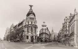 Cuadro de la Gran Vía y la Calle Alcalá de Madrid nº08