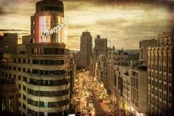 Cuadro Edificio Carrión y Calle Gran Vía Madrid nº07