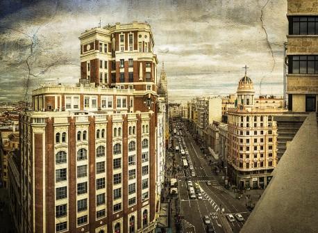 Cuadro vertical de la Gran Vía de Madrid nº05
