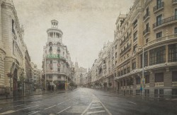Cuadro horizontal de la Gran Vía de Madrid nº06
