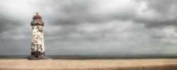 Cuadro del faro Playa de Talacre, Gales nº03