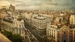Cuadro panorámico de la Gran vía de Madrid nª01