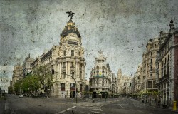 Cuadro de la Gran Vía y la Calle Alcalá de Madrid nº10