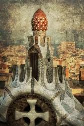 Cuadro vertical Parque Güell de Barcelona nº01