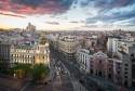 Cuadro de la calle Gran vía de atardecer de Madrid nº03