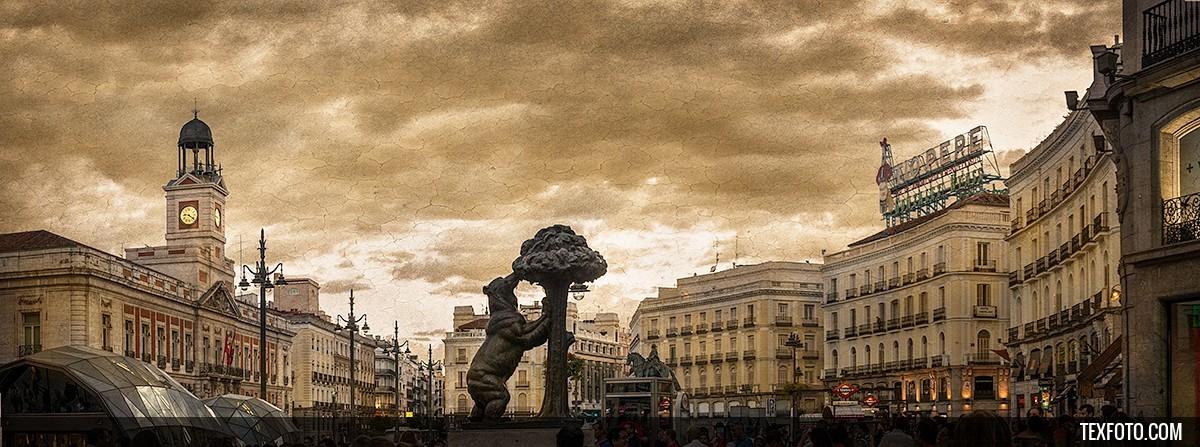 Cuadro puerta del sol madrid n 01 for Puerta del sol online