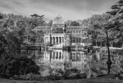 Cuadro del Palacio de Cristal del Retiro de Madrid nº4 B&N