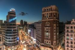 Cuadro Edificio Carrión y Calle Gran Vía Madrid nº08