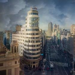 Cuadro vertical de la Gran Vía de Madrid nº04