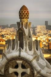 Cuadro vertical Parque Güell de Barcelona nº02