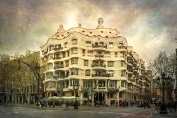 Cuadro horizontal Casa Milà (La Pedrera) de Barcelona nº01