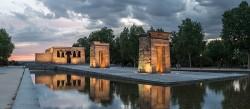 Imagen Templo de Debod anocheciendo de Madrid nº02
