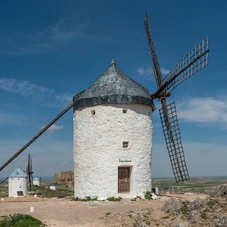 Cuadro de molinos de viento en Consuegra, Toledo nº01