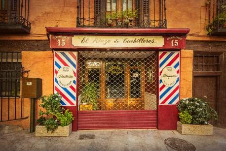 Cuadro fachada Peluquería y Barbería El Kinze de Cuchilleros Madrid nº01