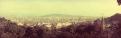 Cuadro panorámico de Barcelona nº01