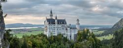 Cuadro panorámico Castillo de Neuschwanstein, Baviera nº02