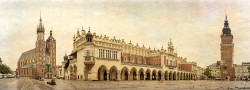 Cuadro panorámico Plaza del Mercado de Cracovia, Polonia nº01