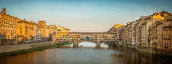 Cuadro panorámico Ponte Vecchio de Florencia, Italia nº01