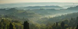 Cuadro panorámico San Gimignano en la Toscana, Italia nº02