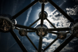 Cuadro horizontal estructura Atomium en Bruselas, Bélgica nº01