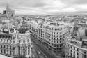 Cuadro de la calle Gran vía de día de Madrid nº01 B&N