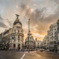 Imagen de la Gran Vía y la Calle Alcalá de Madrid nº03