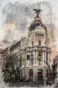 Cuadro Edificio Metropolis de Madrid nº01