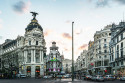 Cuadro de la Gran Vía y la Calle Alcalá de Madrid nº02