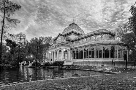 Imagen del Palacio de Cristal del Retiro de Madrid nº01 B&N