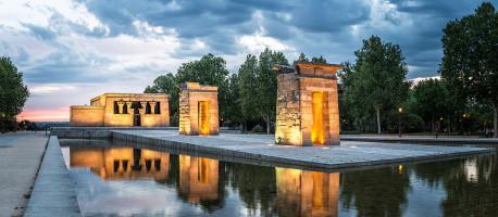 Imagen Templo de Debod anocheciendo de Madrid nº01