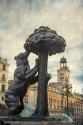 Cuadro de la estatua del Oso y el Madroño Madrid nº02