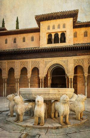 Fotografía vertical de la Alhambra de Granada nº01