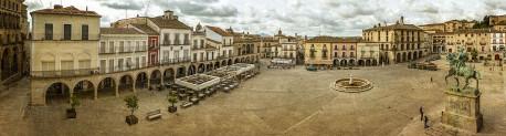 Fotografía panorámica de la Plaza Mayor de Trujillo, Cáceres nº01