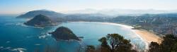 Fotografía panorámica de la playa de la Concha, San Sebastian nº01