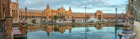 Fotografía panorámica de la Plaza España de Sevilla nº01