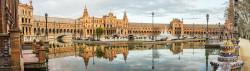 Cuadro panorámico de Plaza de España de Sevilla nº03