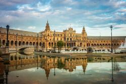 Cuadro horizontal de Plaza de España de Sevilla nº01