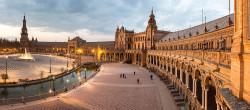 Cuadro panorámico de Plaza de España de Sevilla nº02